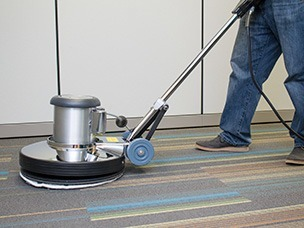 Bonnet Machine Cleaning Carpet in Action in Tallahassee Florida