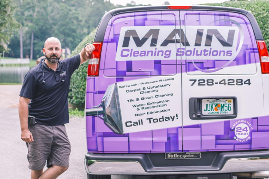 Main Cleaning Solutions Van Image
